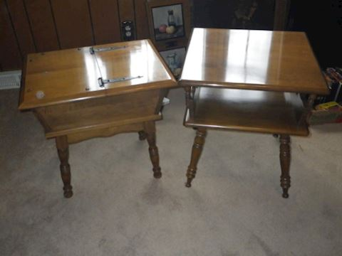 Two Early American End Tables