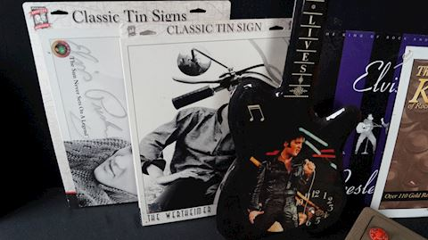 Lot #79 Elvis Presley Signs, Guitar Clock & More!