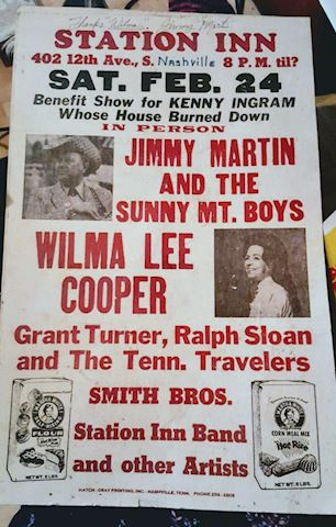 Country Music Event Poster Nashville Signed - RARE