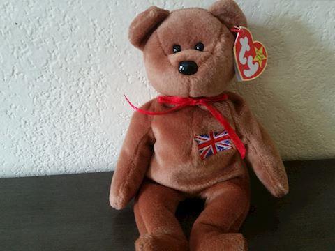 MINT  TY BEANIE BABY BRITTANIA BEAR ORIGINAL 1997