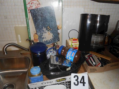 Lot 34 Coffee maker, etc