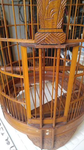 Beautiful Wooden Birdcage Very Nice