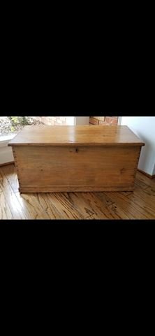 Heavy wood chest