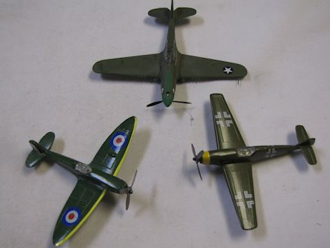 3 - WWII cast iron replicable planes