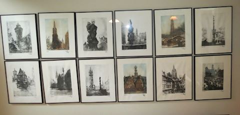 (22) Signed Germany Prints - Framed