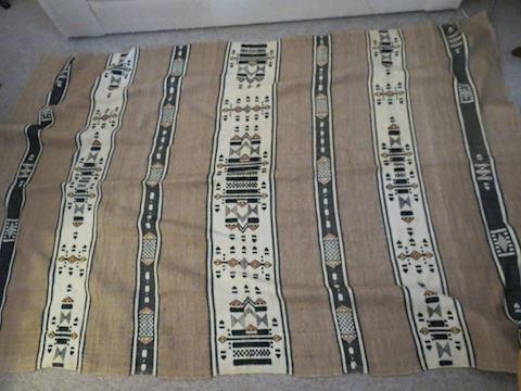 Vintage Native American Wool Blanket 67 x 100""