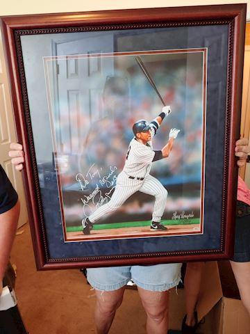 Autographed framed photo-Alex Rodriguez MVP#01308