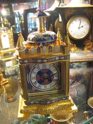 Metal and enamel clock