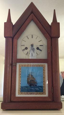 Vintage Mason & Sullivan Steeple Mantle Clock Ship