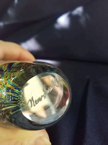 Beautiful multi-colored art-glass perfume bottle
