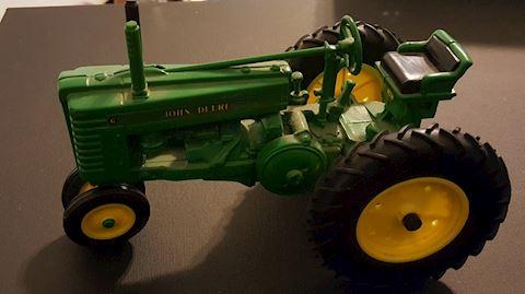 Vintage John Deere Tractor Model Toy