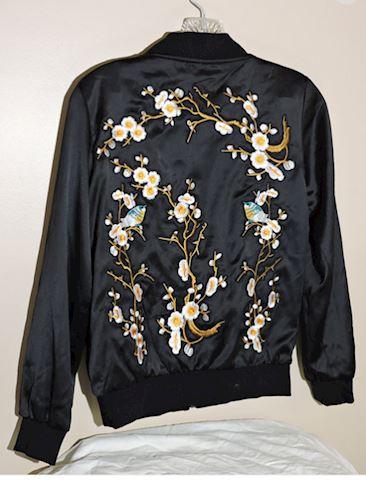 StyleWe Jacket Oriental Knit Decor Women Small