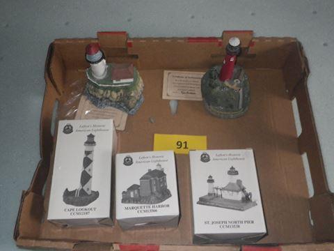 Lot #91 - Lighthouses