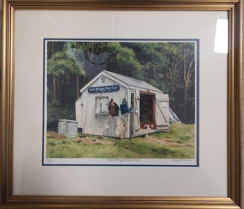 Cotuit Yacht Club Shed Framed Print Signed
