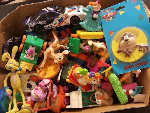 Estate Box of 150  Vintage Toys including Disney