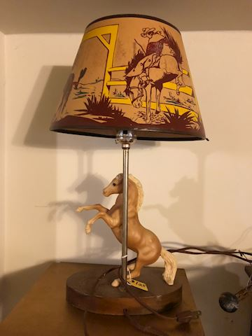Vintage Breyer Horse lamp