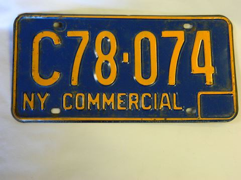 1960s NY Commercial License Plate