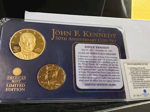 John F Kennedy 50th Anniversary Coin Set