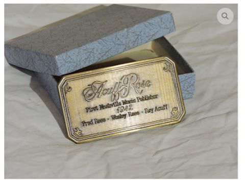 King of Country Music Roy Acuff 1942 Belt Buckle
