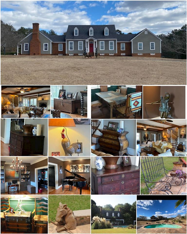 ONLINE AUCTION Sprawling Georgia Mansion Fabulous Contents Of House/ Guest House (over 130 lots)