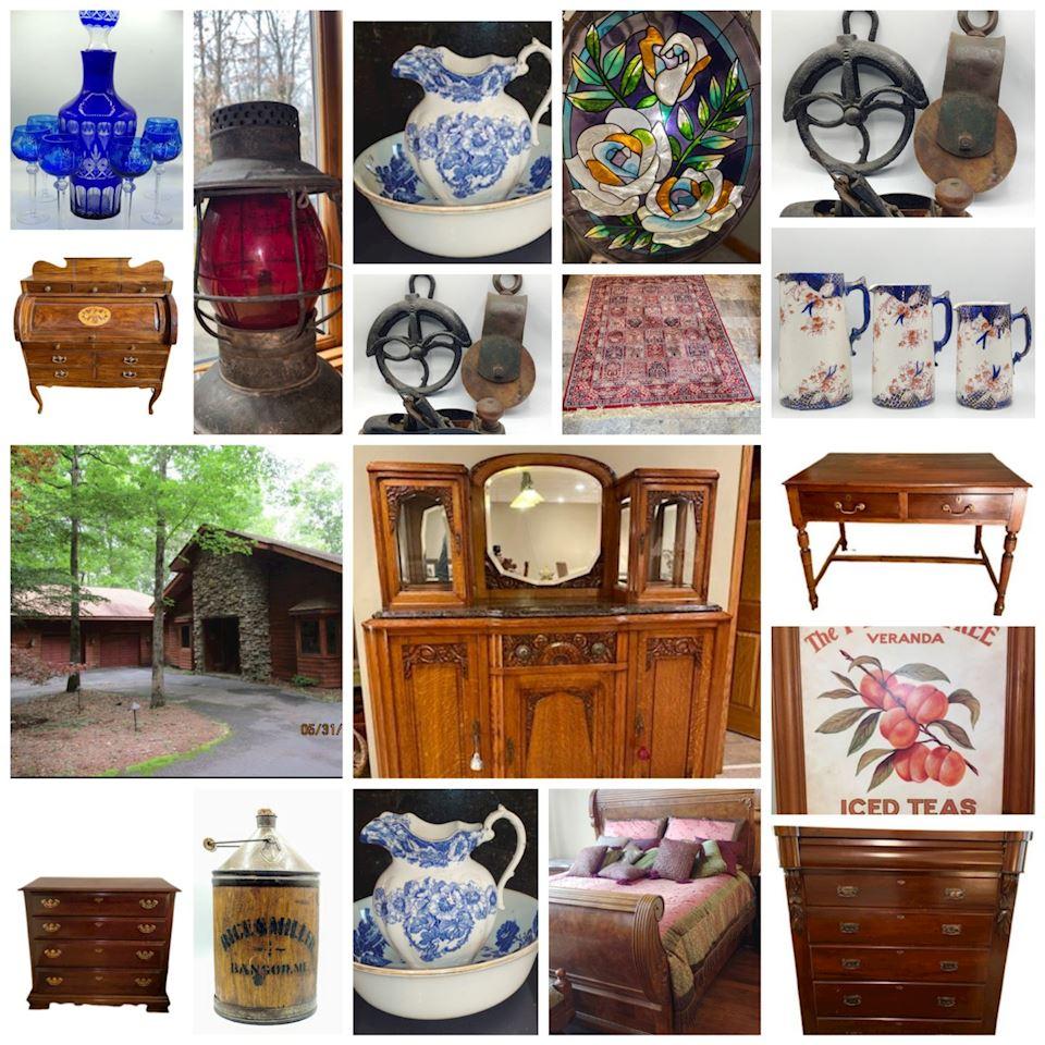 Online Estate Auction! Fine Home w Unique Antiques & First-Class Contents! Top Notch!