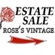 Rose's Vintage Estate & Moving Sales Logo
