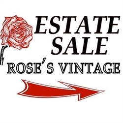Rose's Vintage Estate & Moving Sales Logo