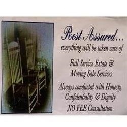 Rest Assured Moving And Estate Sale Services Logo