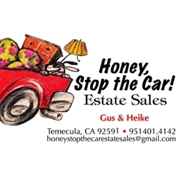 Honey Stop The Car Estate Sales Services Logo