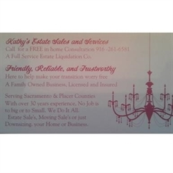 Kathy's Estate Sales And Liquidation Service Logo