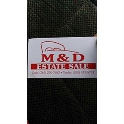 M & D Estate Sales Logo