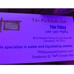 T & P's Estate Sales Logo