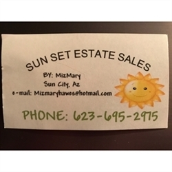 Sun Set Estate Sales By Mizmary Logo