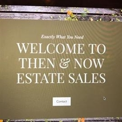 Then And Now Estate Sales Logo