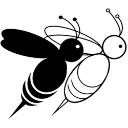 Two Bees' Rare & Collectible Books Logo