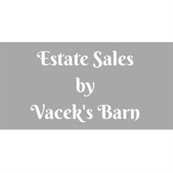 Estate Sales by Vacek's Barn Logo