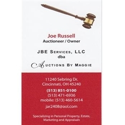 Jbe Services, LLC Dba Auctions By Maggie Logo