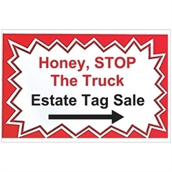 Honey, Stop The Truck Estate Tag Sales, LLC Logo