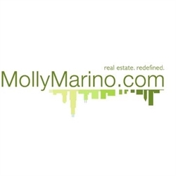 Home By Molly Marino. Estates. Real Estate. Staging. Logo