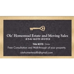 Ole' Homestead Estate And Moving Sales