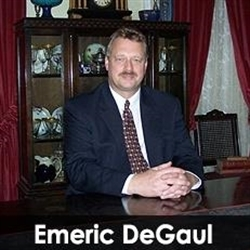 Emeric DeGaul Estate Broker Logo