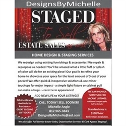 DesignsByMichelle Estates Sales As Well Logo