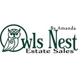 The Owls Nest Estate Sales By Amanda Logo
