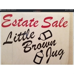Little Brown Jug Estate Sales Logo