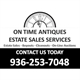 On Time Antiques Estate Sales Logo