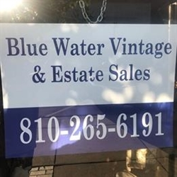 Blue Water Vintage & Estate Sales Logo