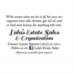 Lalas Estate Sales And Organizing Logo