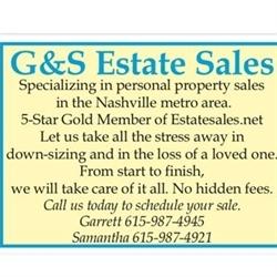 G&s Estate Sales Logo