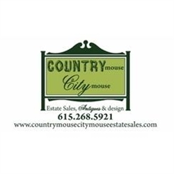 Country mouse City mouse Estate Sales Logo