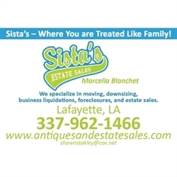 Sista's Backporch Antiques And Estate Sales Logo